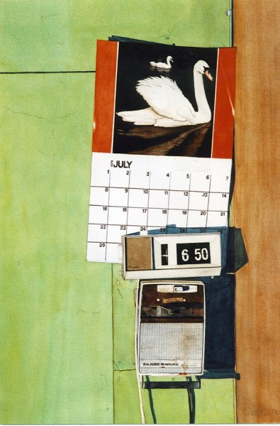 """30 Days Detention"", 14"" X 19"", Watercolor from the Household Crime Series"
