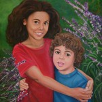 """Sienna and Greyson""oil on canvas , collection of Ryan and Tianna Parker"